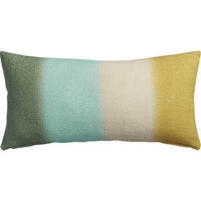 Tie dye stripes  pillow - 23x11 - Down-alternative Insert. - CB2