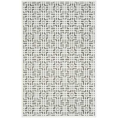 Paradise Ivory/Dark Gray Area Rug - Wayfair