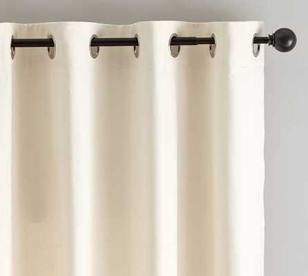 "Baxter Cotton Twill Drape With Grommet - Ivory, 84"" - Pottery Barn"