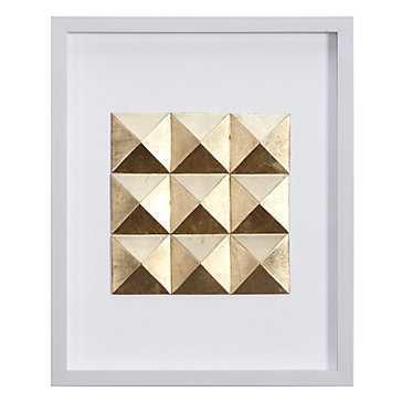 Gold Square - 17.75''W x 21.75''H - Framed - Z Gallerie