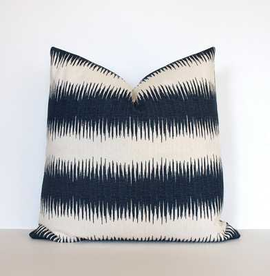 "Striped Navy Designer Cushion Cover Accent Pillow-19"" x 19""-Insert not included - Etsy"