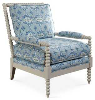 Bankwood Spindle Chair, Glacier Blue - One Kings Lane
