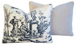 French Countryside Toile Pillows, Pr - One Kings Lane