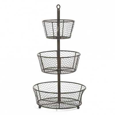 Epergne Tiered Wire Basket - vivaterra.com