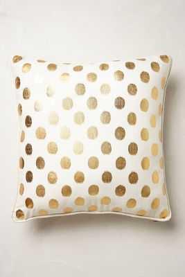 """Luminous Dots Pillow - Gold -18"""" x 18""""- Polyfill insert - Anthropologie"""