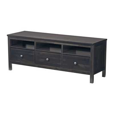 HEMNES TV unit, black-brown - Ikea
