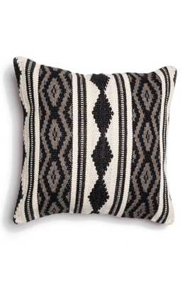 "LOLOI Woven Cotton & Wool 22"" Black Multi Accent Pillow - Poly-fiber insert - Nordstrom"