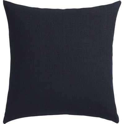 "linon navy 20"" pillow with down-alternative insert - CB2"
