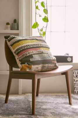 "Hooked Stripe Grey Pillow - 22"" - Urban Outfitters"