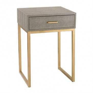 Sterling Shagreen Side Table - supply.com