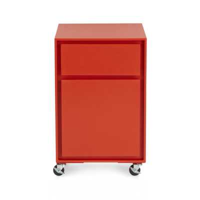 Pilsen Paprika Two Drawer File Cabinet - Crate and Barrel