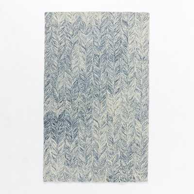 Vines Wool Rug - Blue Lagoon - 9' x 12' - West Elm