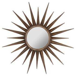 Evelyn Sunburst Wall Mirror, Bronze - One Kings Lane