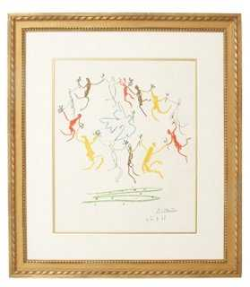 "Pablo Picasso, Dance of Youth-13"" x 17"" x 1.5""-Framed - One Kings Lane"
