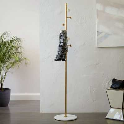 Deco Marble Coat Rack - West Elm