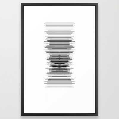 "reception - 26"" x 38"", vector black frame - Society6"