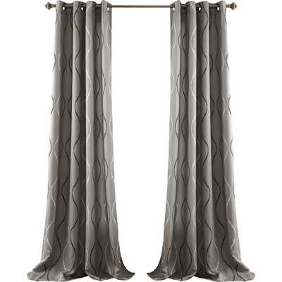Swirl Curtain Panel - Set of 2 - Wayfair