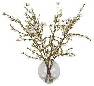 "31"" Cherry Blossom Arrangement, Faux - One Kings Lane"