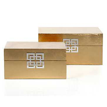 Ming Boxes - Set of 2 - Gold - Z Gallerie