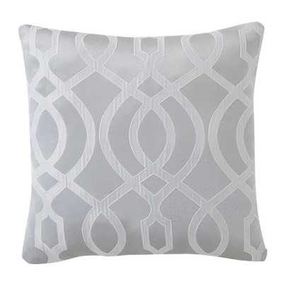 """Lexington Throw Pillow-  Silver- 18"""" H x 18"""" W- Polyester/Polyfill insert - Wayfair"""