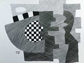 Abstract Drawing by R. Stokes - One Kings Lane