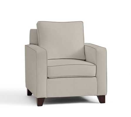 Cameron Square Arm Upholstered Armchair - Pottery Barn