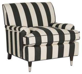 Coralia Club Chair, Black/White - One Kings Lane