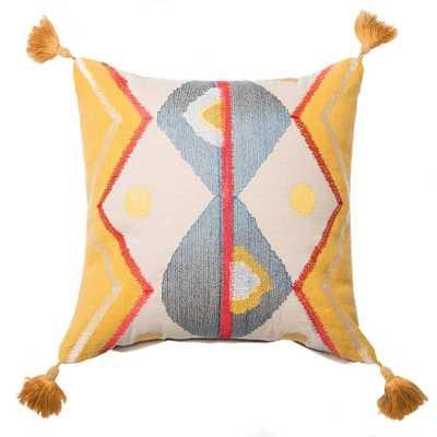 Printed Cotton Pillow - Domino