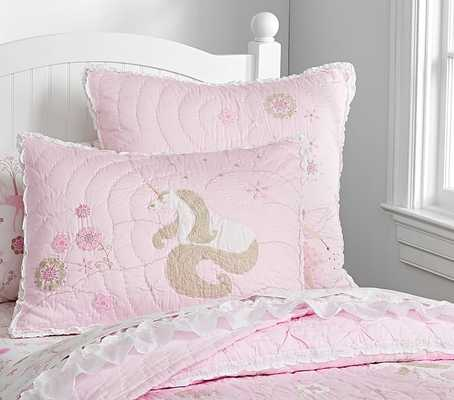Unicorn Quilted Bedding - Standard Sham - Pottery Barn Kids