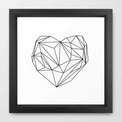 Heart Graphic (black on white) - Society6