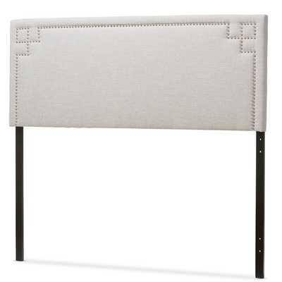 Baxton Studio Georgios Modern Contemporary Greyish Beige Fabric Upholstered Headboard - Overstock