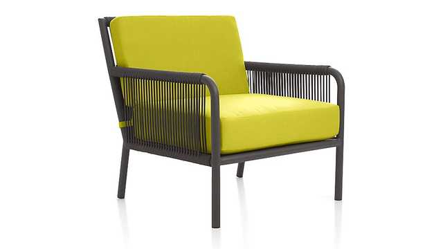 Morocco Lounge Chair with Sunbrella ® Cushion - Crate and Barrel