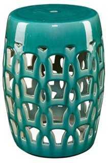 Ophelia Garden Stool, Turquoise - One Kings Lane