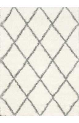 Moroccan Diamond Shag Rug + Pad - Rugs USA