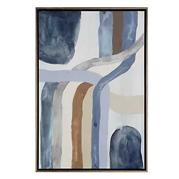 Ash Ground 2 - 25.5''W x 37.5''H - Framed - Z Gallerie
