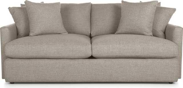 "Lounge II 83"" Sofa - Heather - Crate and Barrel"