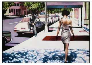 "Thom Saliot, Woman Walking - 24"" x 17"" - Unframed - One Kings Lane"