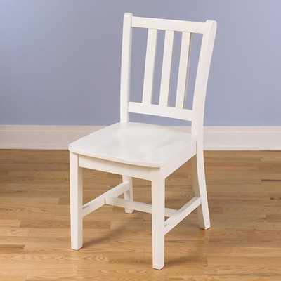White Parker Desk Chair - Land of Nod