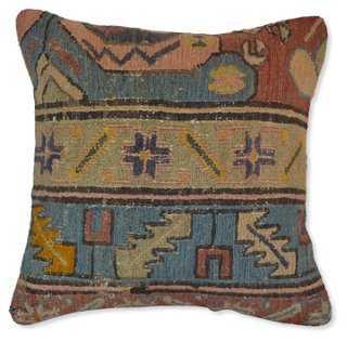 """Handmade Soumak Pillow - 18"""" L x 18"""" W - Poly insert - One Kings Lane"""