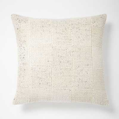 """Gilded Square Textured Pillow Cover - Ivory/Silver, 18""""sq., Insert Sold Separately - West Elm"""