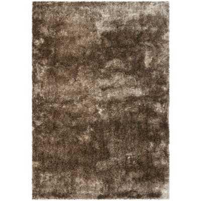 Safavieh Silken Paris Shag Sable Shag Rug (10' x 14') - Overstock