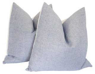 Classic Blue & White Linen Pillows - One Kings Lane