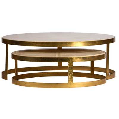 Dovetail Keaton Coffee Tables (Set of 2) - Candelabra