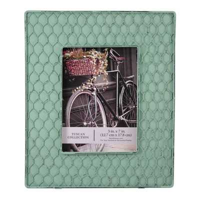 Louvenia Chicken Wire Accent Over Picture Frame - Wayfair