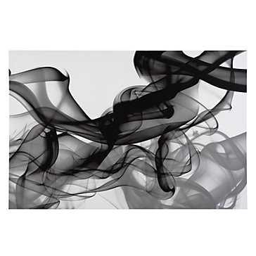 Black Smoke - 54''W x 36''H  - Unframed - Z Gallerie
