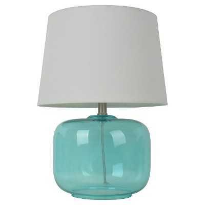 "Glass Table Lamp (Includes CFL bulb) - Pillowfortâ""¢ - Aqua - Target"