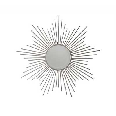 Sunburst Silver Metal Wall Mirror - AllModern