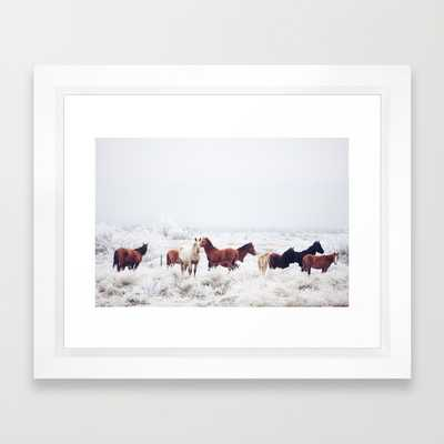 Winter Horseland - 10x12, Framed - Society6