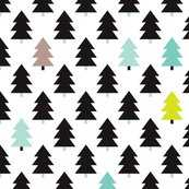 lovely little scandinavian christmas trees xl - Spoonflower