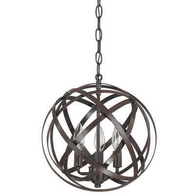 3 Light Globe Pendant - Russet - Wayfair